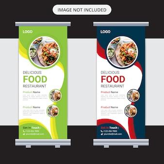 Food roll up banner design per ristorante