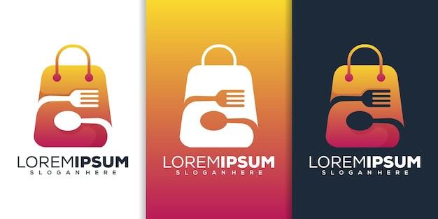 Design del logo del negozio di alimentari
