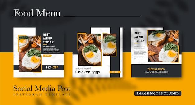 Banner di social media alimentare