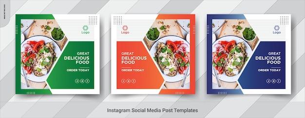 Banner insgram sui social media alimentari
