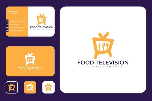 Design del logo e biglietto da visita della televisione alimentare