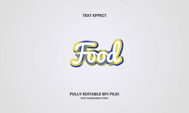 Effetto testo cibo