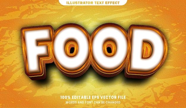 Testo di cibo, effetto di testo modificabile in stile carattere