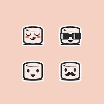 Food-tema. simpatici personaggi marshmallow