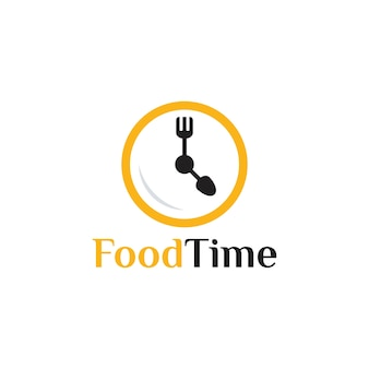 Tempo del cibo logo modello di progettazione