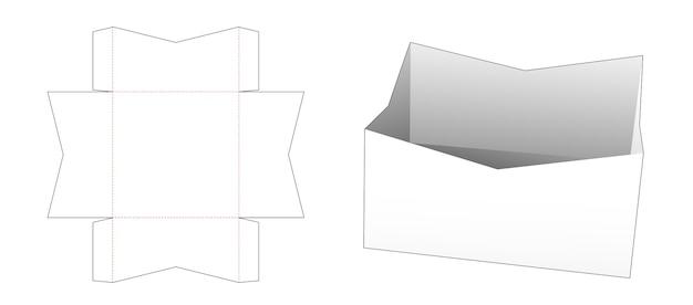 Modello fustellato per vassoio alimentare