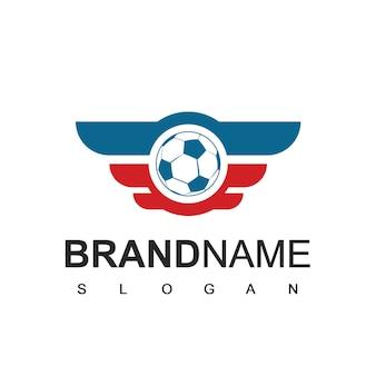 Modello di logo della squadra del pallone da calcio