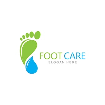 Modello di progettazione del logo per la cura dei piedi