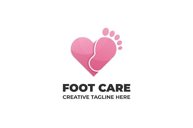 Cura dei piedi pedicure saloon gradient logo business