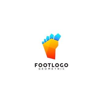 Modello di progettazione del logo colorato del piede