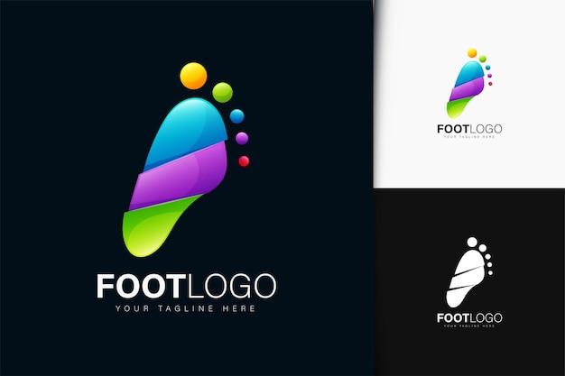 Design del logo del piede con gradiente