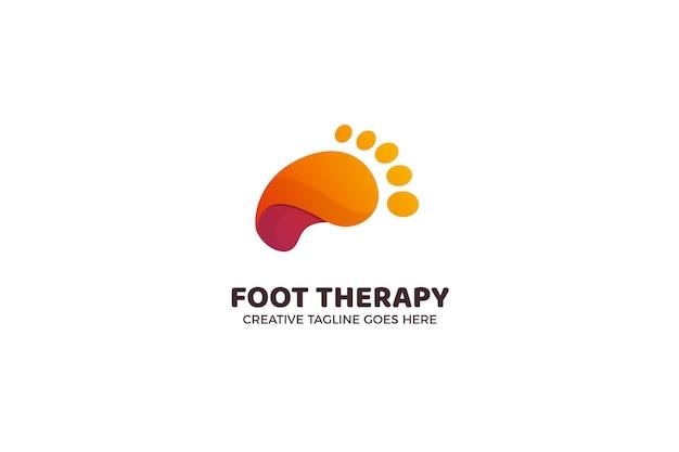 Modello di logo di stampa del piede
