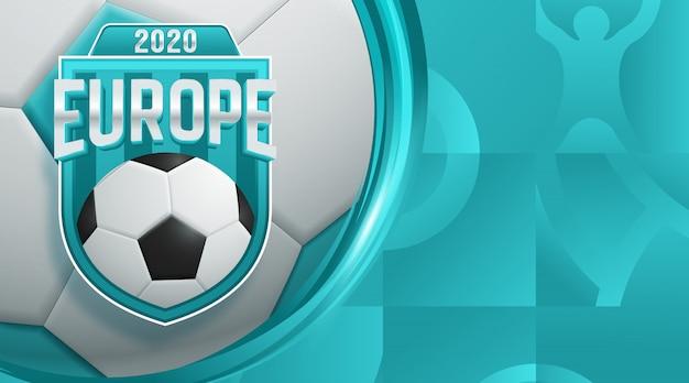 Sfondo di coppa del mondo di calcio 2020
