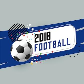 Bandiera astratta di calcio con elementi di design
