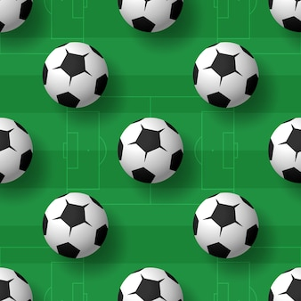 Fondo senza cuciture delle palle di calcio