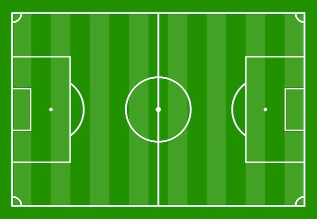 Campo da calcio con erba verde. illustrazione vettoriale