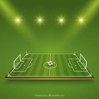 Campo di calcio Vettore Premium