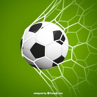 Rete da calcio Vettore Premium