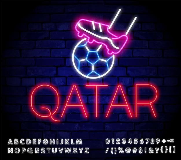 Icona del calcio qatar vettore icona dello sport del calcio finale sportivo o gioco scolastico per banner ek wk