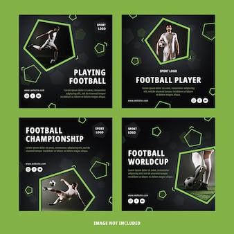 Set di post di calcio instagram