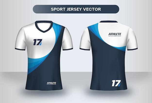 Modello di disegno di maglia da calcio. design aziendale, vista anteriore e posteriore della maglietta dell'uniforme del club di calcio.