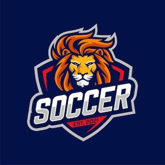 Logo della squadra del leone di calcio