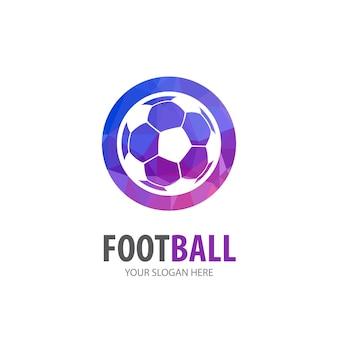 Logo di calcio per società di affari. design semplice dell'idea del logotipo di calcio. concetto di identità aziendale. icona di calcio creativo dalla collezione di accessori.