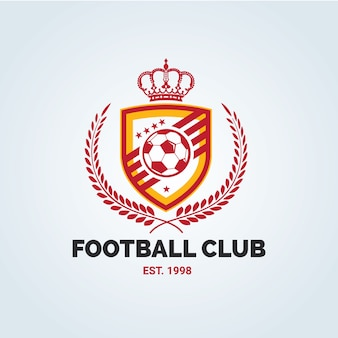 Logo del calcio, logo del calcio, etichette del calcio americano. emblemi con pallone da calcio. illustrazione vettoriale