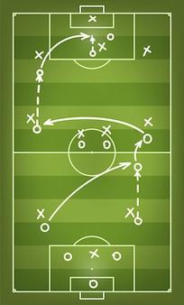 Schema di strategia di partita di calcio.
