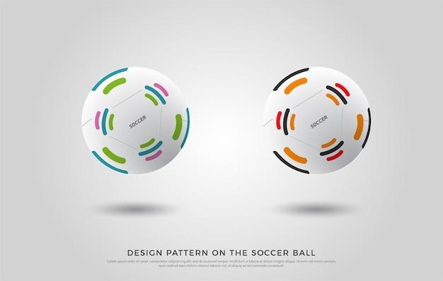 Modello di calcio sul pallone da calcio