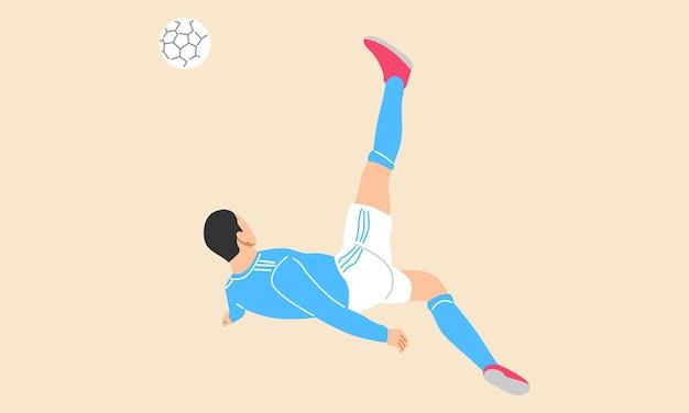 Giocatore di football che fa una rovesciata