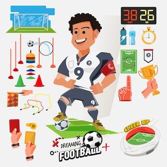 Illustrazione del giocatore di football americano