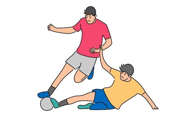 Illustrazione del giocatore di football calciare la palla