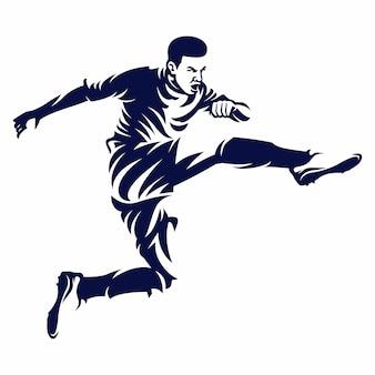 Vettore di giocatore di calcio