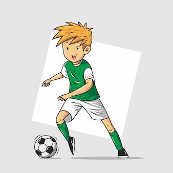 Giocatori di calcio in azione