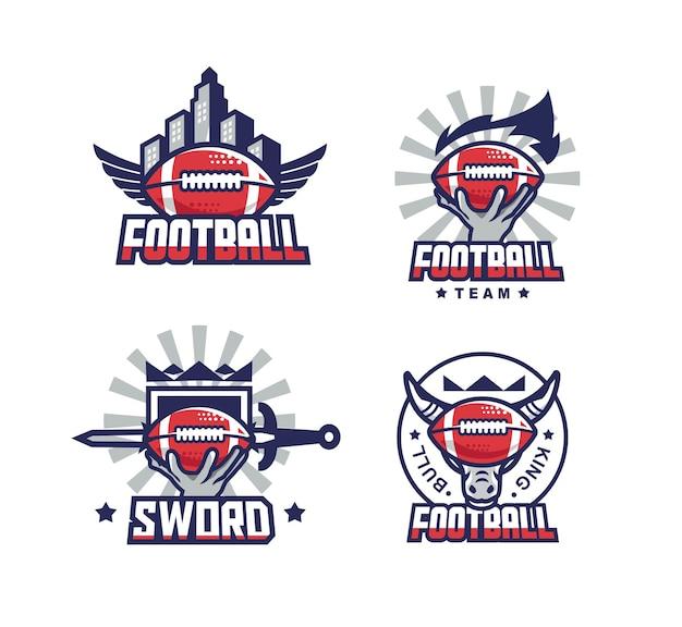 Modello di logo del set di calcio