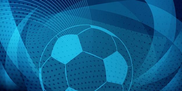Sfondo di calcio o calcio con una grande palla in colori grigi