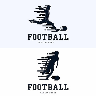 Modello di progettazione di logo di sport di calcio