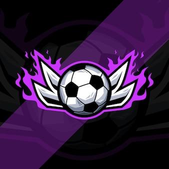 Progettazione del modello di logo di sport di calcio