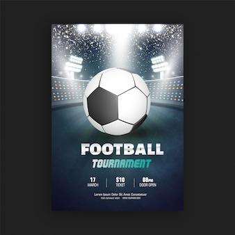 Volantino del torneo di calcio
