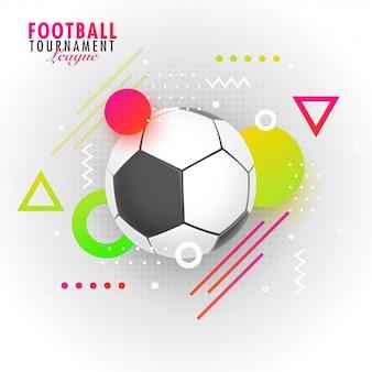 Testo della lega del torneo di calcio con il calcio