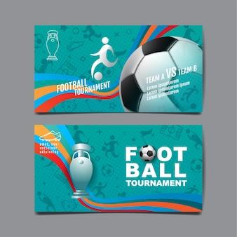 Torneo di calcio, progettazione del layout sportivo, calcio, illustrazione di sfondo.