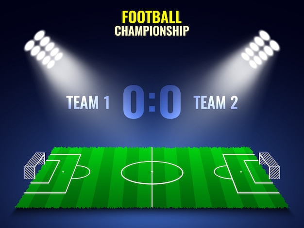 Torneo di calcio. stadio.