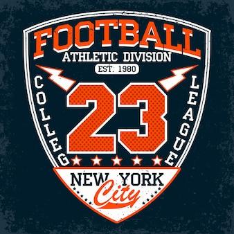 Emblema di tipografia di calcio, logo sportivo