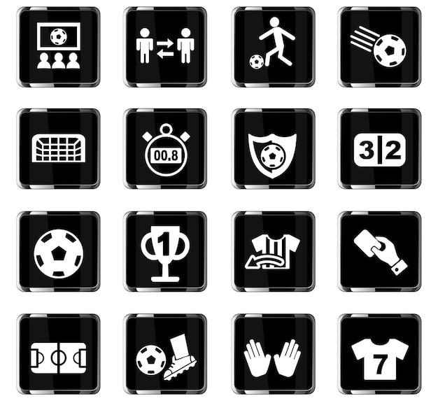 Icone web di calcio per il design dell'interfaccia utente