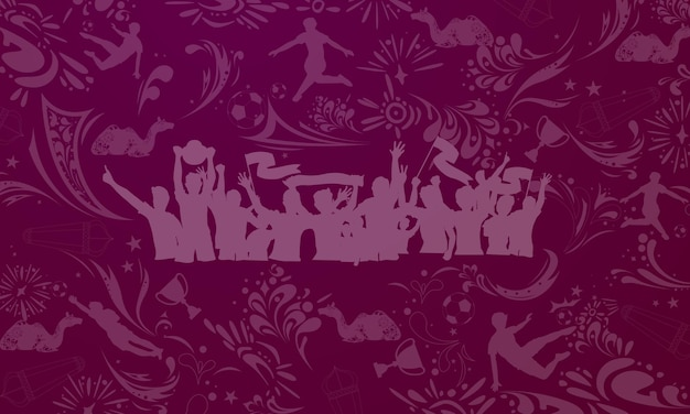 Coppa del mondo di calcio sfondo per banner, campionato di calcio 2022 in qatar