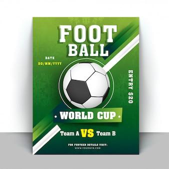 Volantino coppa del mondo di calcio