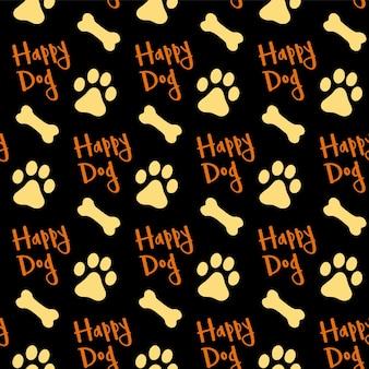 Impronte cane e ossa sfondo texture senza soluzione di continuità