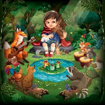 Concerto di animali della foresta