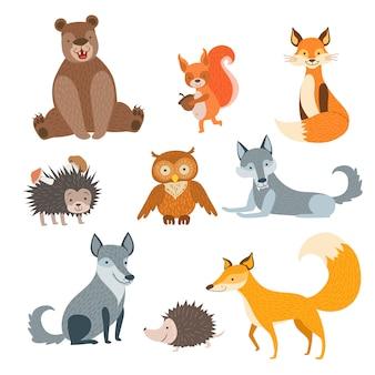 Set di animali della foresta